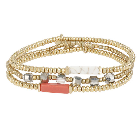 Kenneth Cole Triple Bracelet - Rose Gold