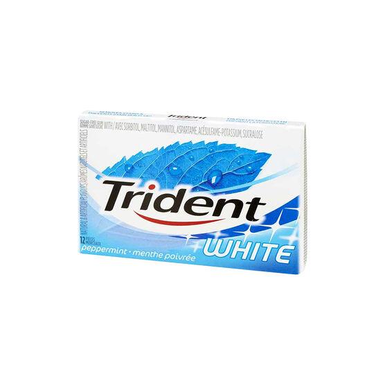 Trident White Gum - Peppermint - 12 pieces