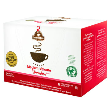 Second Cup Paradiso Coffee - Medium - 12 pack