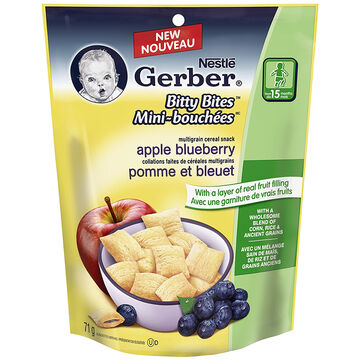Nestle Gerber Bitty Bites - Apple Blueberry - 71g