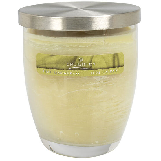 Wax Jar Candle with Lid - Thai Lemongrass - 10oz