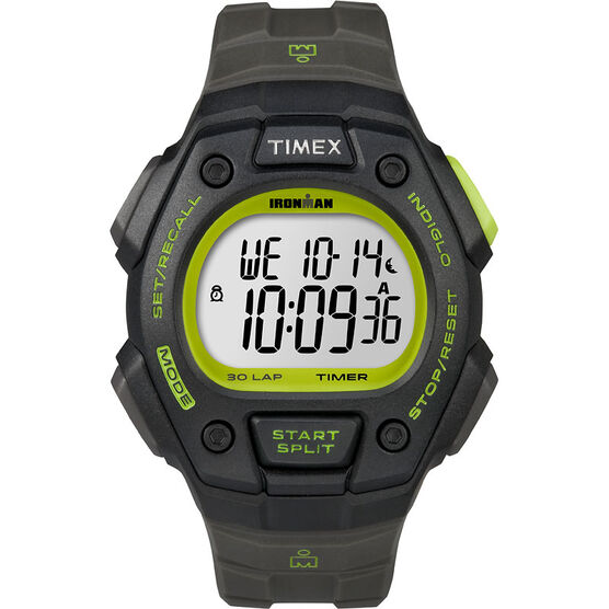Timex Ironman Watch - Black/Green - T5K824GP