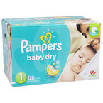 Pampers Baby Dry Diapers - Size 1 - 120's