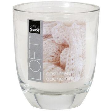 Kiera Grace Loft Glass Jar Candle - Cashmere - 3.9oz