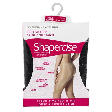 Shapercise Waist to Knee - Large - Black