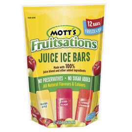 Mott's Fruitsations Juice Ice Bars - 12x53ml
