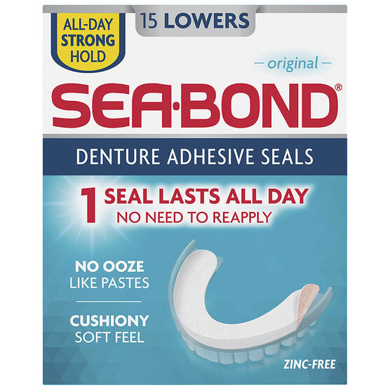 Sea-Bond Denture Adhesive - Lower - 15's