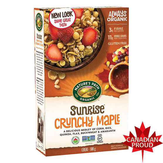 Nature's Path Organic Crunchy Maple Sunrise - Gluten-Free -  300g