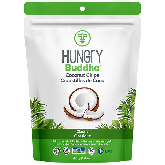 Hungry Buddha Coconut Chips - Classic - 40g