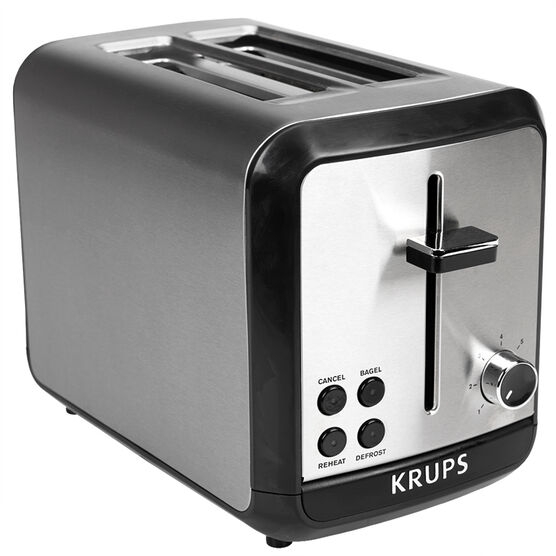 Krups Savoy 2 Slice Toaster - Black and Silver