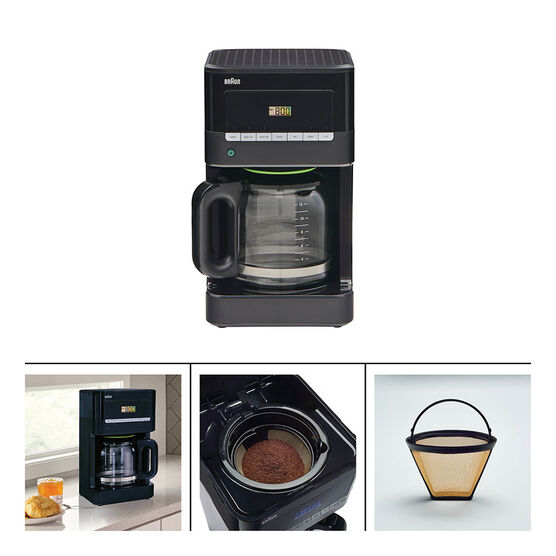 Braun Coffee Maker - Black/Stainless - KF7000BK