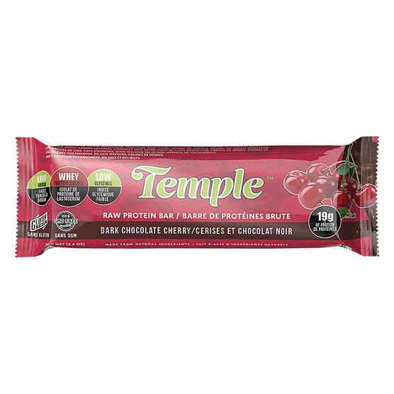 Temple Raw Protein Bar - Dark Chocolate Cherry - 70g