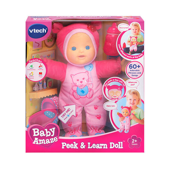 Baby Amaze Peek and Learn Doll