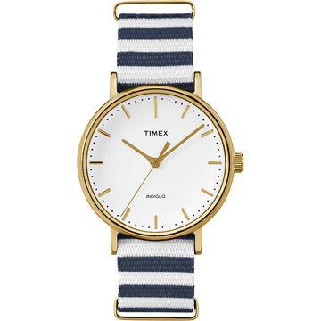 Timex Weekender Fairfield - Gold/Blue/White - TW2P91900ZA