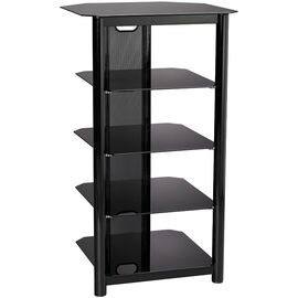 Everik EverStyle Five Shelf Audio Stand - Black - ES-AV004