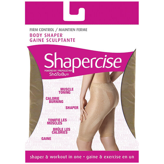 Shapercise Waist to Knee - Large - Nude