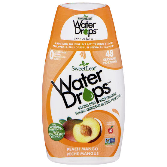 Sweetleaf Water Drops - Peach - 64ml