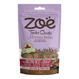 Zoe Tender Chunks Dog Treats - Bistra Beef and Gravy - 150g