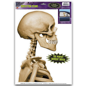 Halloween Skeleton Car Cling