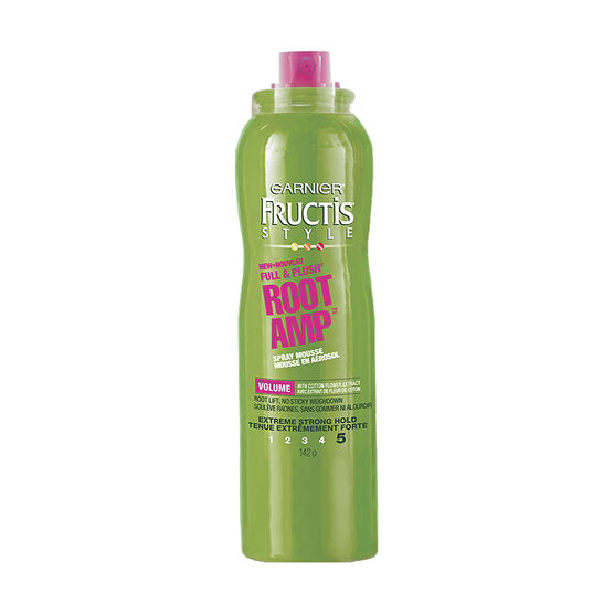 Fructis Root Amp Volume Mousse - Extreme Strong Hold - 142g