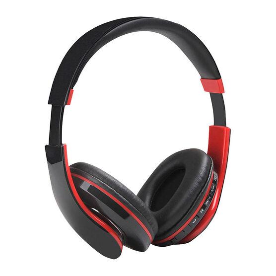 escape bluetooth stereo headset red black bts36. Black Bedroom Furniture Sets. Home Design Ideas