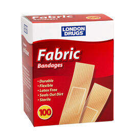London Drugs Fabric Bandages - 100's