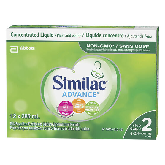 Similac® Go & Grow® with Omega-3 and Omega-6 - Concentrated Liquid - 12 x 385ml
