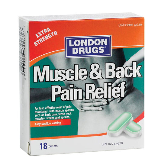 London Drugs Muscle & Back Pain Relief - Extra Strength - 18 caplets