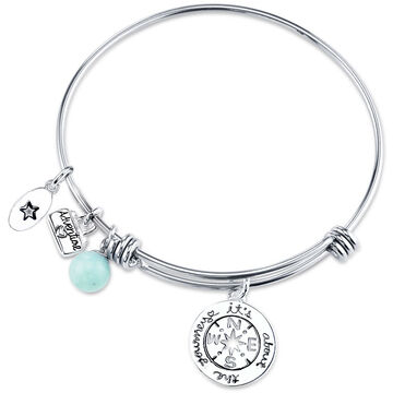 UNWRITTEN Stainless Steel Journey Expandable Bangle