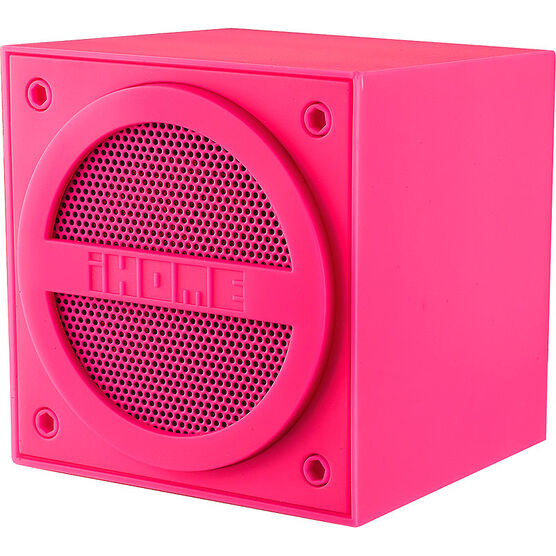 iHome Bluetooth Mini Cube - Pink - IBT16PC
