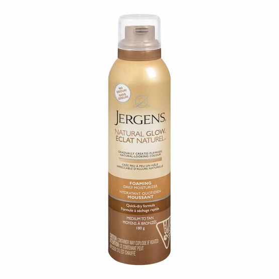 Jergens Natural Glow Foaming Daily Moisturizer - Medium to Tan - 180g