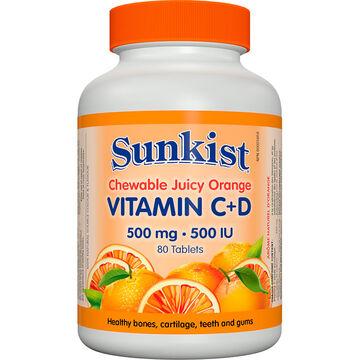 Sunkist® Vitamin C + D - 80's