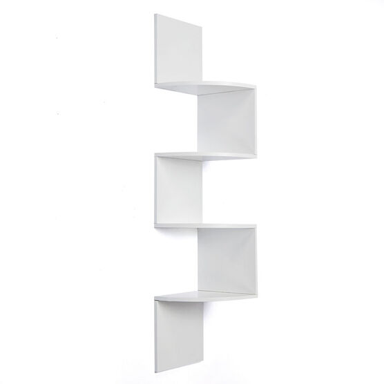 Provo Wood Corner Shelf - White - 57 x 12 x 12inch