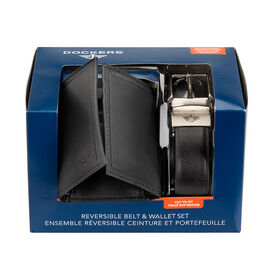 Docker's Wallet and Belt Set - Black - One Size