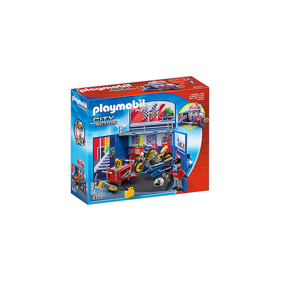 Playmobil City Action - My Secret Motorcycle Workshop Play Box
