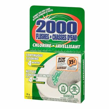 2000 Flushes Chlorine Bowl Cleaner - 35g