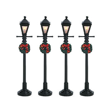 Lemax Gas Lantern Street Lamps - 4 set