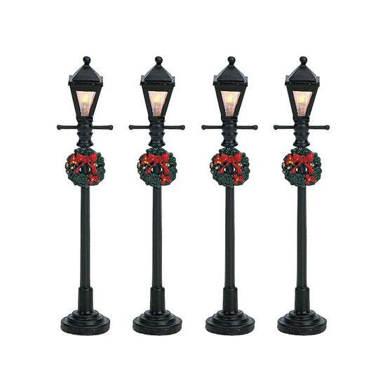 Lemax Gas Lantern Street Lamps - 4 set