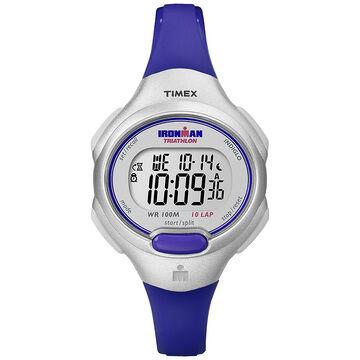 Timex Ironman Mid Size Watch  - Silver/Blue - T5K740C2