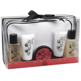 PurePleasure Bath Set with Cosmetic Bag - Tahitian Tulip - 5piece