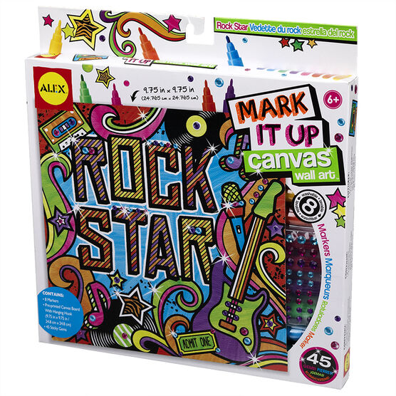 Alex Mark It Up Canvas Wall Art - Rock Star