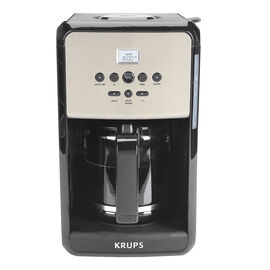 Krups Savoy Coffee Maker - Black and Silver - 12 Cup