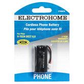 Electrohome Cordless Phone Battery - Vtech 2.4V - ETA6010