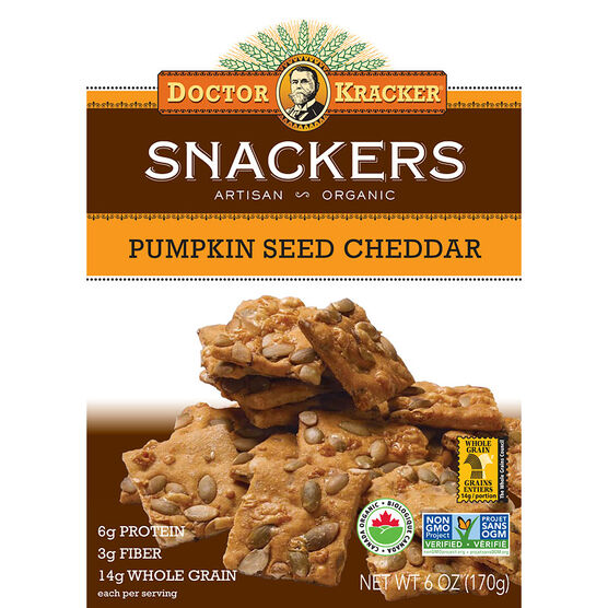 Dr Kracker Snackers -  Pumpkin Seed Cheddar - 170g