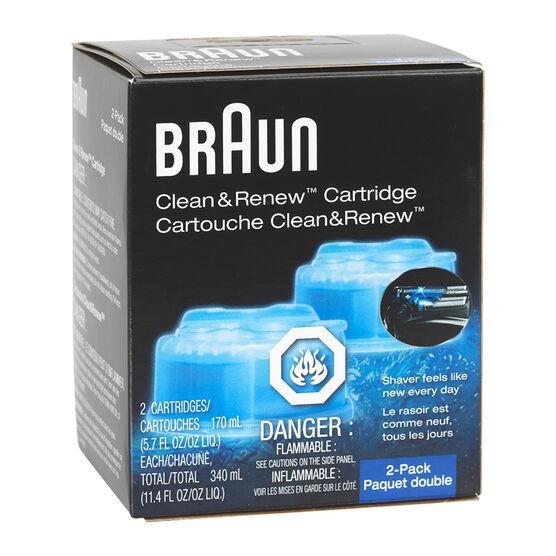 Braun Clean & Renew - Lemon Fresh Formula - 2 pack