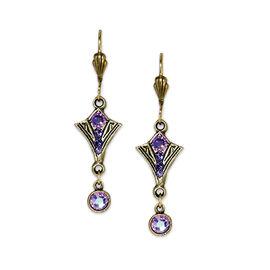 Anne Koplik Lam Shield Drop Earrings