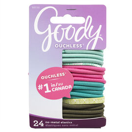 Goody Ouchless No-Metal Elastics - 9735 - 24's