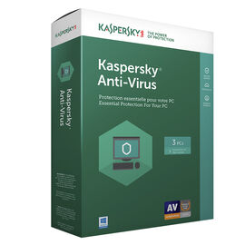 Kaspersky Anti Virus 2017 - 3 PCs - 1 Year - 8136018