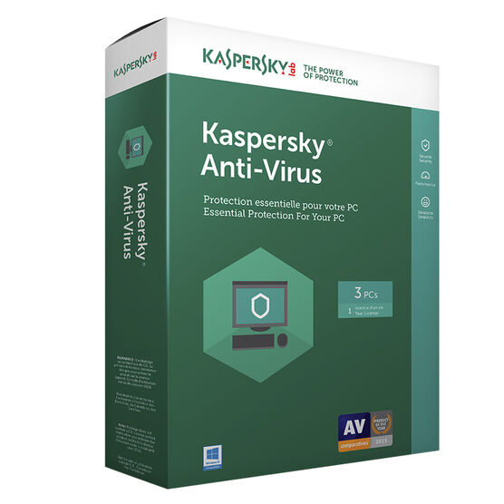 Kaspersky Anti Virus 2017 - 3 PCs - 1 Year - 8136018
