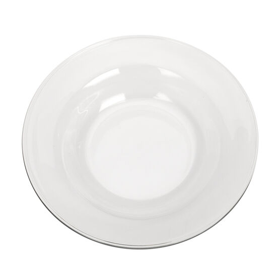 Moderno Soup/Salad Plate - Clear - 9inch